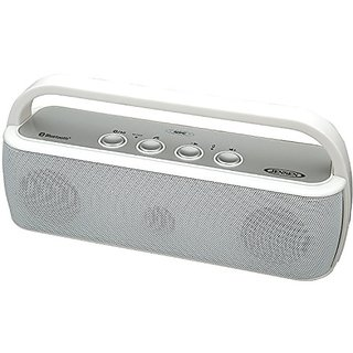 Jensen SMPS-627-W Portable Bluetooth Wireless Stereo Rechargeable Speaker