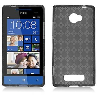 Aimo Wireless HTC6990SKC224 Soft and Slim Fabulous Protective Skin for HTC Windows Phone 8X - Retail Packaging - Smoked