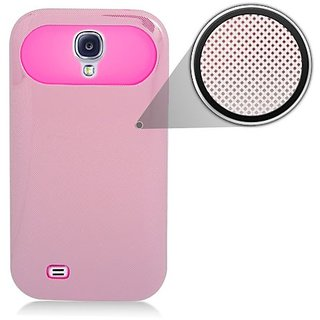 Eagle Cell Silicone with Laser Hard Chrome Case for Samsung Galaxy S4 - Retail Packaging - Pink/Hot Pink