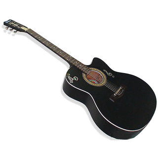 Givson Acoustic Guitar   Venus Special   Black Matt Finish  with Pick up available at ShopClues for Rs.4300