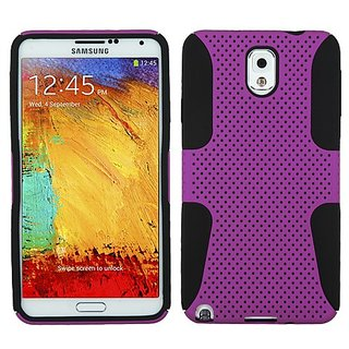 MyBat ASMYNA Astronaut Phone Protector Cover for Samsung Galaxy Note 3 N900A - Retail Packaging - Purple/Black
