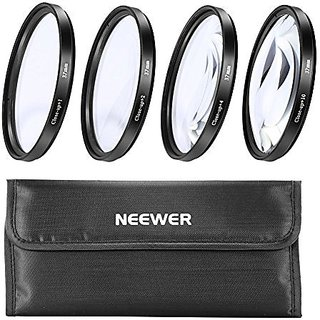 Neewer 37MM Macro Close-Up Lens Set 4 Filter Kit +1+2+4+10 Magnifications - NEW!