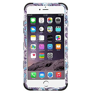 MyBat Carrying Case for iPhone 6s Plus/6 Plus - Retail Packaging - Purple European Flowers/Black