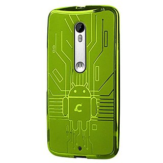 Cruzerlite Bugdroid Circuit Case for the Motorola Moto X Pure - Retail Packaging - Green