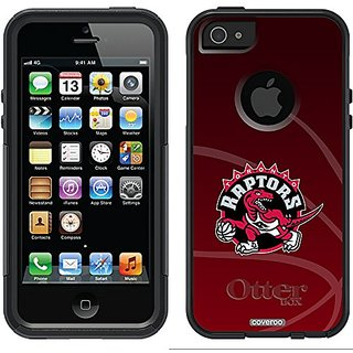 Coveroo Commuter Series Black Cell Phone Case for iPhone 5/5s - Toronto Raptors B-Ball