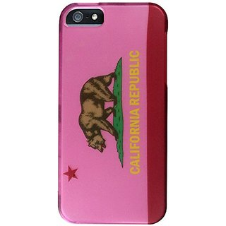 Zizo Design Hard Snap-On Cover for iPhone 5/5S - Retail Packaging - Rubberized California 3 Design