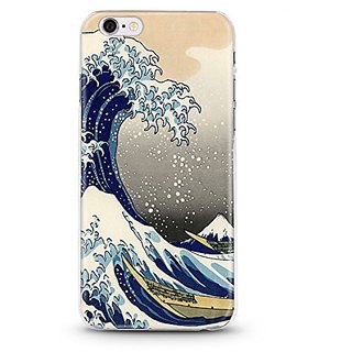 iPhone 6S / 6 Slim Protective Soft Flexi Crystal Clear Case (Japanese Waves)