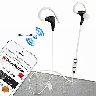 iGearPro Noise Canceling Bluetooth Wireless Headphones with Microphone for iPhone and Android (White)