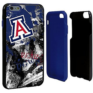 NCAA Arizona Wildcats Paulson Designs Spirit Hybrid Case for iPhone 6 Plus, One Size, Black