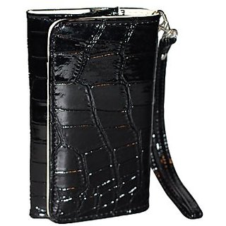 Tradekmk(TM) Universal Wallet Credit Card Crocodile Leather Case Cover with Strap for iPhone 5/ 5S, iPhone 4/ 4S, Touch,