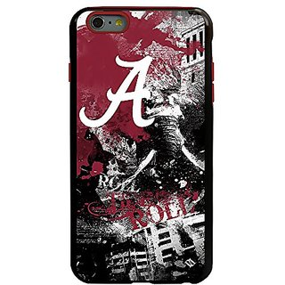 NCAA Alabama Crimson Tide Paulson Designs Spirit Hybrid Case for iPhone 6 Plus, One Size, Black
