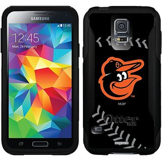 Coveroo Baltimore Orioles Bird Stitch Design Phone Case for Samsung Galaxy S5 - Retail Packaging - Black