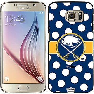 Coveroo Snap-On Cell Phone Case for Samsung Galaxy S6 - Buffalo Sabres Polka Dots