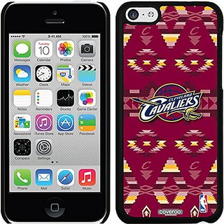 Coveroo Thinshield Snap-On Case for iPhone 5c - Retail Packaging - Black/Cleveland Cavaliers Tribal Print