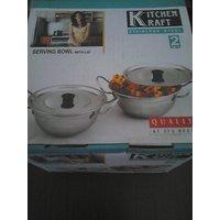 Detak Kitchen Kraft Serving Bowl With (set Of Two)