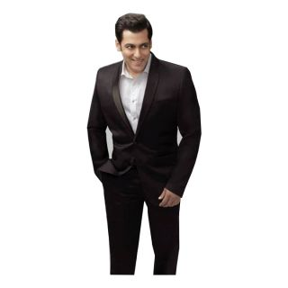 Salman Khan Bollywood Style - Poly Viscose Brown Suit Length Fabric