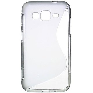 JUJEO S Shape TPU Case Shell for Samsung Galaxy Core Advance i8580 - Grey - Retail Packaging - Grey