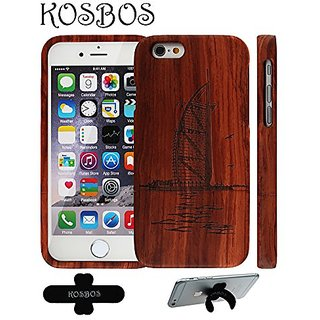 KSB 100% Solid Wood Handmade Natural Wooden Relief Cover For IPhone 6S 4.7 Inches (Burj Al Arab Jumeirah)