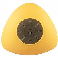 Triangle Mini Wireless Waterproof Bluetooth Shower Speaker Hands Free Speaker For IPhone/iPad/Cellphones - YELLOW
