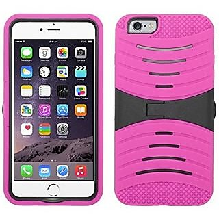 Zizo UCase Cover with Kickstand and Screen Installed for iPhone 6 Plus 5.5-Inch - Retail Packaging - Hot Pink