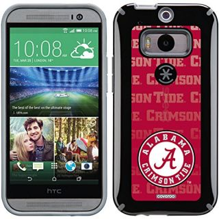 Coveroo Alabama Repeating Design Phone Case for HTC One M8 - Retail Packaging - Black