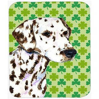 Carolines Treasures Mouse/Hot Pad/Trivet, Dalmatian St. Patricks Day Shamrock Portrait (SS4400MP)