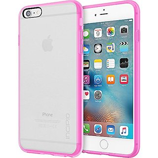 Incipio Impact Absorbing Carrying Case for iPhone 6 Plus/6s Plus - Retail Packaging - Clear/Highlighter Pink