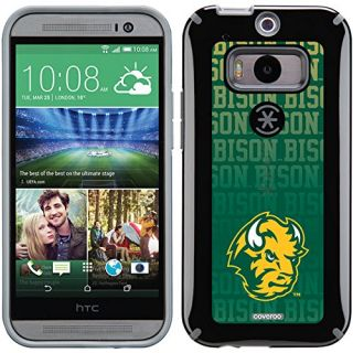 Coveroo CandyShell Cell Phone Case for HTC One M8 - Retail Packaging - North Dakota State Repeating