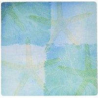 3dRose LLC 8 X 8 X 0.25 Aqua And Blue Starfish Collage Beach Theme Art Mouse Pad (mp_79348_1)