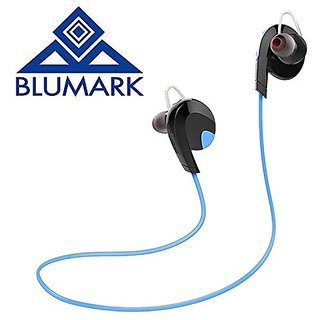 Wireless Bluetooth V4.1 Earphones by BLUMARK - Stereo Sweatproof for Sport - Gym/Running. With Mic APT-X, Noise Cancelli