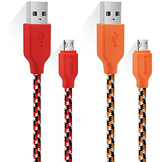 Micro USB Chargers, Magic-T 6.6ft/2m Braided Charging Cord Data Charger High Speed 2.0 A Male to Micro B for Android, Sa