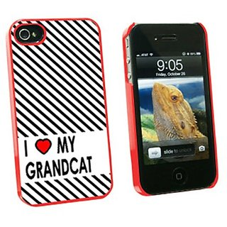 Graphics and More I Love Heart My Grandcats Snap-On Hard Protective Case for Apple iPhone 4/4S - Non-Retail Packaging