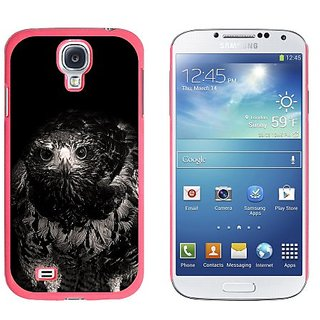 Graphics and More Hawk on Black and White Raptor Avian Snap-On Hard Protective Case for Samsung Galaxy S4 - Non-Retail P