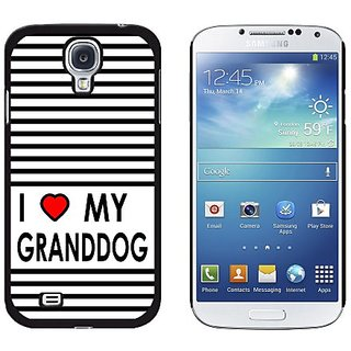 Graphics and More I Love Heart My Granddog Snap-On Hard Protective Case for Samsung Galaxy S4 - Non-Retail Packaging - B