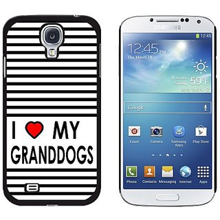 Graphics and More I Love Heart My Granddogs Snap-On Hard Protective Case for Samsung Galaxy S4 - Non-Retail Packaging