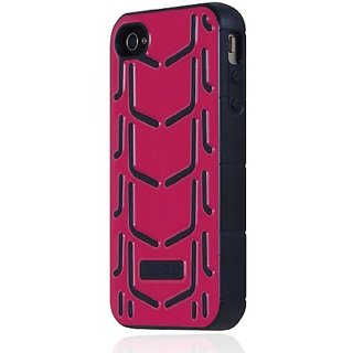 Incipio iPhone 4/4S Invert Rigid Soft Shell Case - 1 Pack - Retail Packaging - Magenta/Black