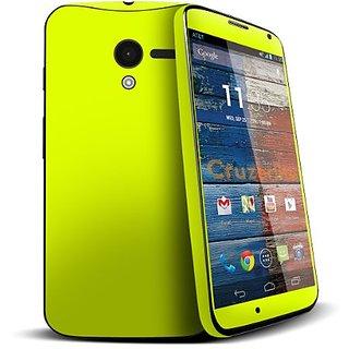Cruzerlite Skin for Moto X - Retail Packaging - Fluorescent Yellow Neon