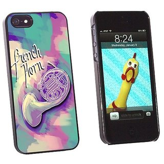 Graphics and More French Horn Al Instrument Music Brass Snap-On Hard Protective Case for Apple iPhone 5/5s - Non-Retail