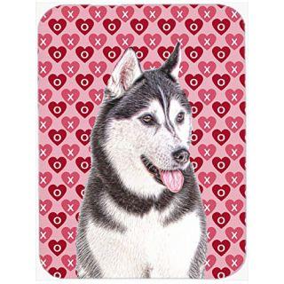 Carolines Treasures Hearts Love & Valentines Day Alaskan Malamute Mouse Pad/Hot Pad/Trivet (KJ1189MP)