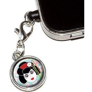 Graphics and More Geisha Anti-Dust Plug Universal Fit 3.5mm Earphone Headset Jack Charm for Mobile Phones, iPhone, iPod,