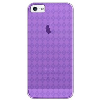 Katinkas USA 2108047133 Soft Cover for iPhone 5 - Checker - 1 Pack - Retail Packaging - Purple