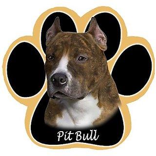 Brindle Pit Bull Dog Paw Non-Slip Mousepad
