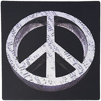 3dRose LLC 8 X 8 X 0.25 Inches Peace Pass It On A Rough And Worn Metal Three Dimensional Peace Sign Mouse Pad (mp_19231_
