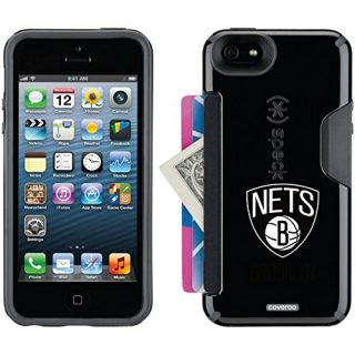 Coveroo Brooklyn Nets Primary Logo Design Phone Case for iPhone 5s/5 - Retail Packaging - Black