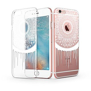 iPhone 6s Plus Case, iPhone 6 Plus Case, MOSNOVO iPhone 6s Plus Clear Case with Design White Henna Totem Mandala iPhone
