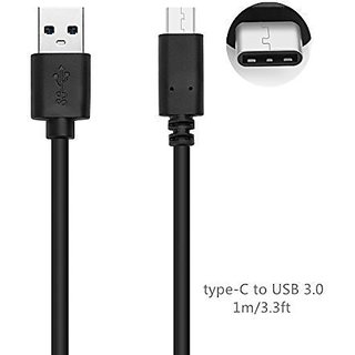 ipegtop 3.3ft Type C (USB-C) to USB 3.0 Type A (USB-A) Male Charging Sync Cable, for Apple Macbook,Oneplus 2, Nokia N1 a