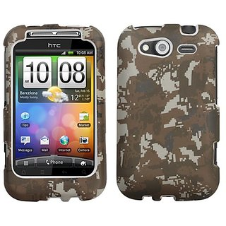 MyBat HTC Wildfire S GSM Lizzo Phone Protector Cover - Retail Packaging - Digital Camo/Yellow