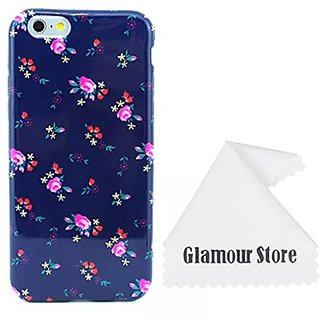 iPhone 6 Plus Case,Flower Printed Pattern Rubber Gel Silicone Soft TPU Case Cover Skin For Apple iPhone 6 Plus 5.5 inch