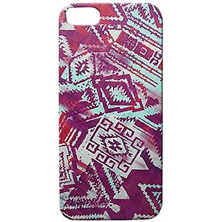Kathy Ireland Expressions Mayan iPhone 5 Flex Case - Retail Packaging - Aqua/Purple