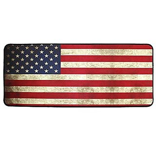The Holic Vintage Flag Gaming Mouse Pad with an Optimized Textured Surface / Non-slip Rubber Base Wide Gaming Mouse Mat